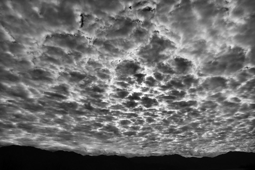 Blanket of Clouds Over Death Valley