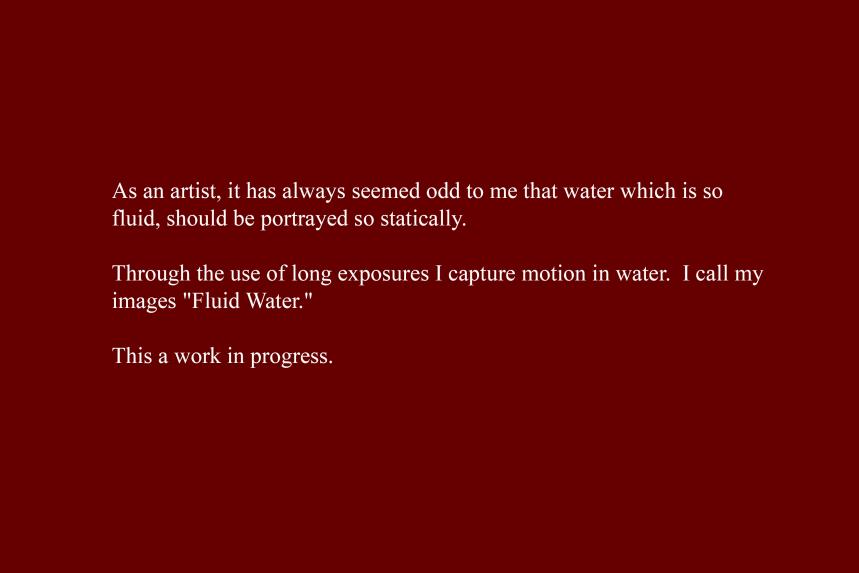 Artist Statement - Fluid Water