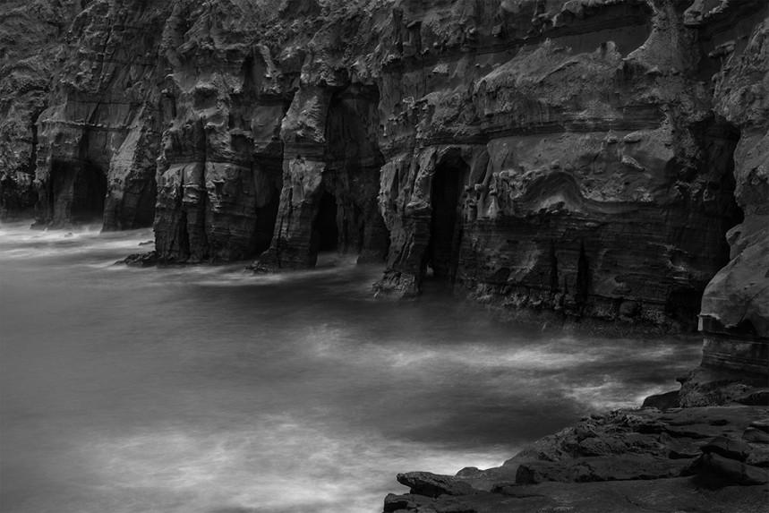 La Jolla Rock and Water Detail No 10