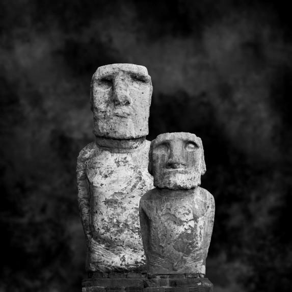 Moai Sitting for Portrait No 7