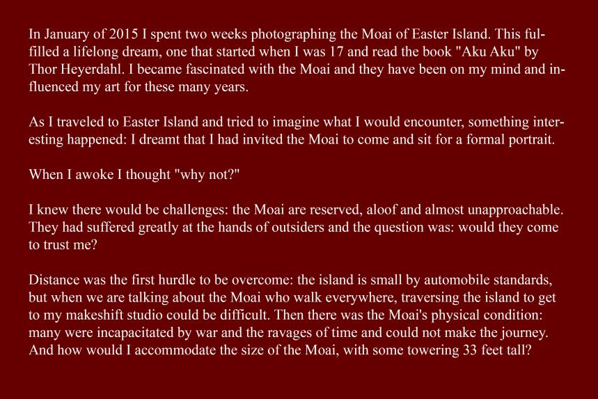 Artist Statement - Moai, Sitting for Portrait 1