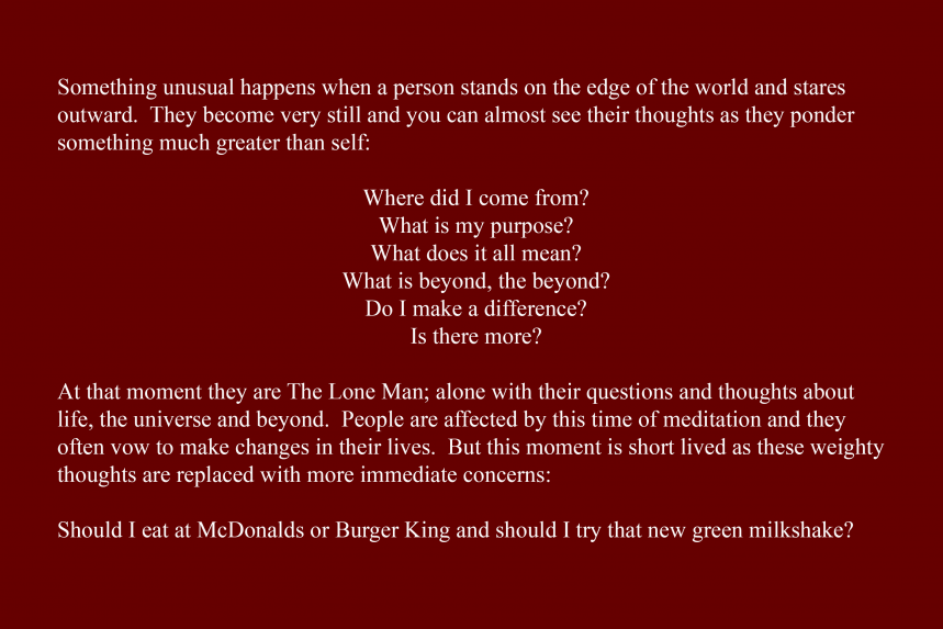 Artist Statement - The Lone Man