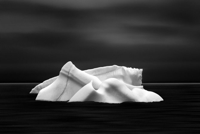 The focal point of this simple black and white images is Melting Giants No. 22