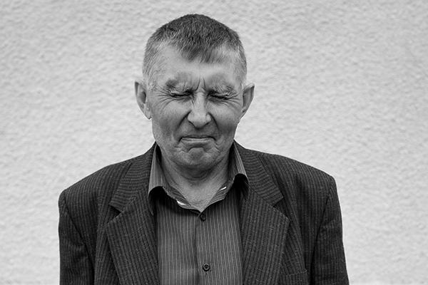 ukrainians, with eyes shut